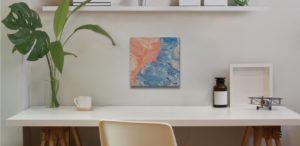 Peach wall art