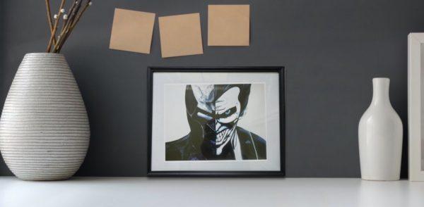 batman vs joker wall art